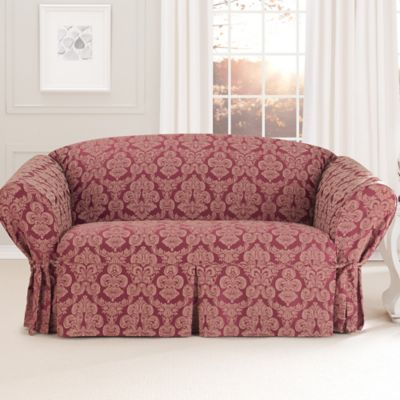 Sure Fit® Relaxed Fit Middleton 1-Piece Loveseat Slipcover in Red