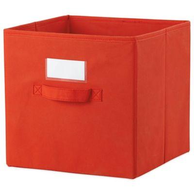 Cube Grid Bins in Red/Orange (Set of 2)