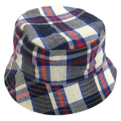 Rising Star Infant Plaid Reversible Bucket Hat