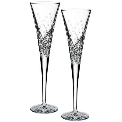 Waterford® Wishes Happy Celebrations Toasting Flutes (Set of 2)