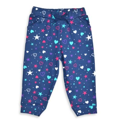 Kidtopia Size 3M Hearts, Stars, and Dots Print Pocketed Jogger Pant in Navy