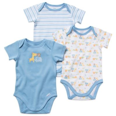 Gerber ONESIES® Newborn 3-Pack Boy's Short-Sleeve Organic Cotton Bodysuits