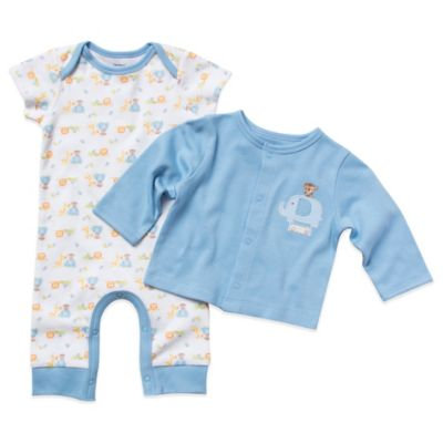 Gerber Newborn 2-Piece Organic Cotton Coverall & Cardigan Set