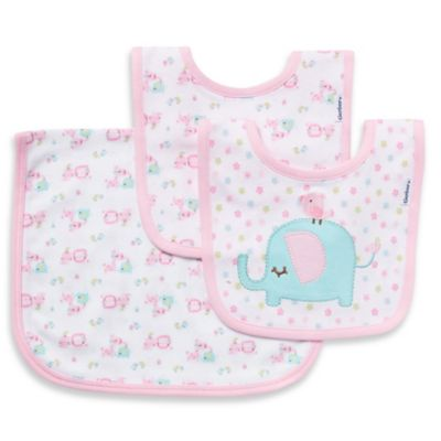 Gerber 3-Piece Organic Cotton Bib and Burp Set in Pink