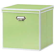 Real Simple® Foldable Storage Bin with Lid Green