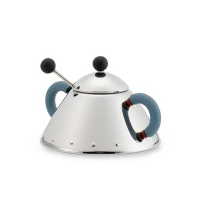 Michael Graves Sugar Bowl with Spoon by Alessi