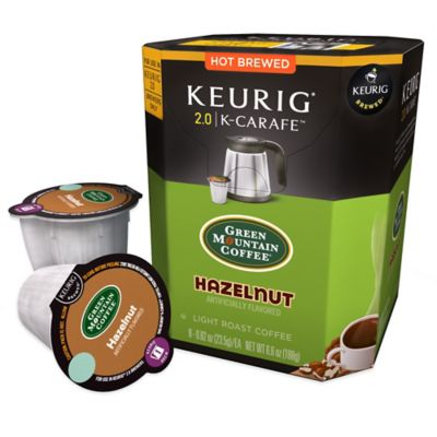 Keurig® K-Carafe™ Pack 8-Count Green Mountain Coffee® Hazelnut Light Roast Coffee