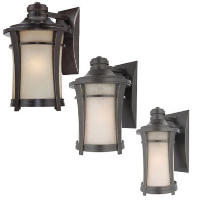 Quoizel Harmony Wall-Mount Outdoor Small Wall Lantern in Bronze