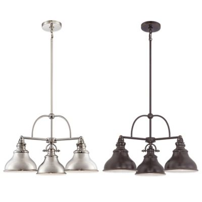 Quoizel Emery 3-Light Ceiling-Mount Dinette Pendant in Bronze