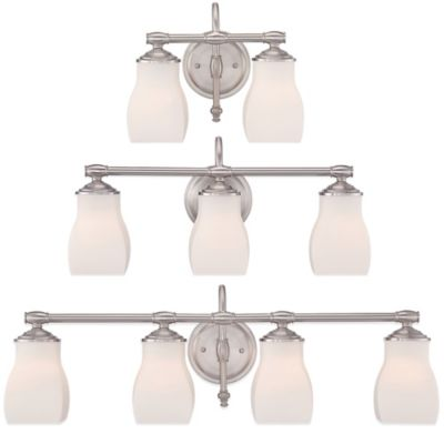 Quoizel Clarke 2-Light Wall-Mount Bath Fixture in Brushed Nickel