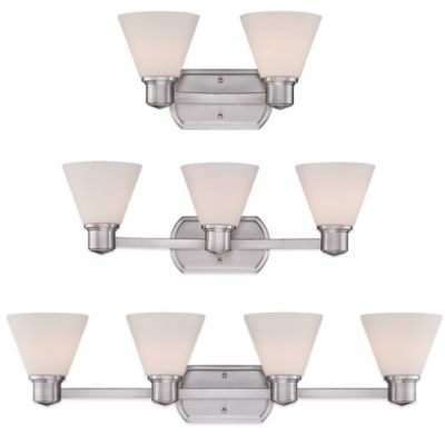 Quoizel Ayers 2-Light Wall-Mount Bath Fixture in Brushed Nickel