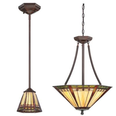 Quoizel Arden Ceiling-Mount 3-Light Pendant Light in Russet