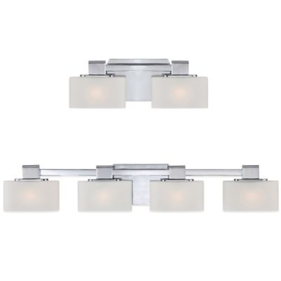 Quoizel Uptown 3rd Ave 2-Light Wall-Mount Bath Fixture in Polished Chrome w/Opal Etched-Glass Shades