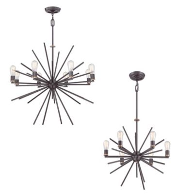 Quoizel Uptown Carnegie 6-Light Chandelier in Bronze