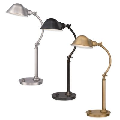 Quoizel Vivid Collection Thompson LED Desk Lamp in Imperial Bronze