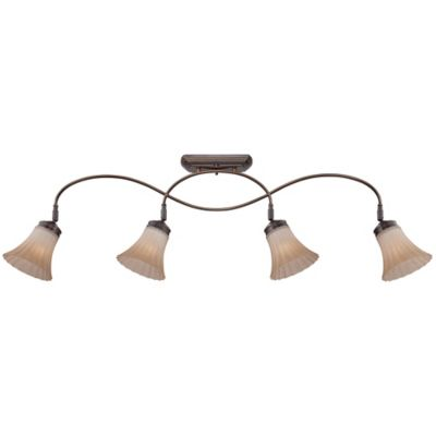 Quoizel Aliza 4-Light Ceiling-Mount Fixed Track Light in Palladian Bronze