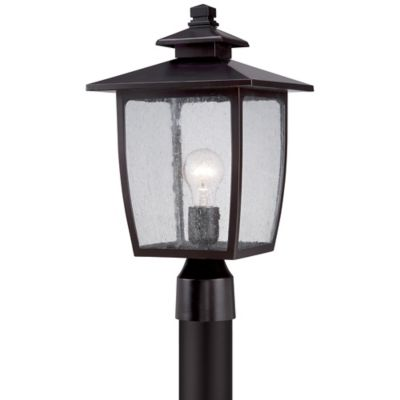 Quoizel Bradley Post-Mount Outdoor Large Lantern in Palladian Bronze