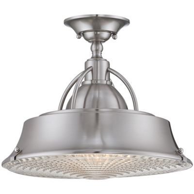Quoizel Cody Medium Semi-Flush Mount in Brushed Nickel