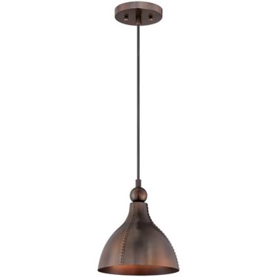 Gaston Ceiling-Mount Pendant in Mottled Bronze