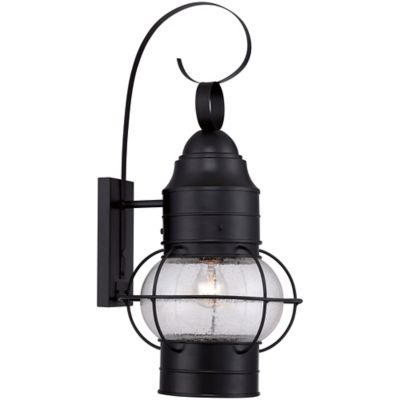 Quoizel Cooper Large Wall-Mount Outdoor Lantern in Mystic Black
