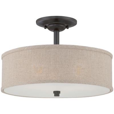 Quoizel Coverdale Large Semi-Flush Mount in Mottled Cocoa
