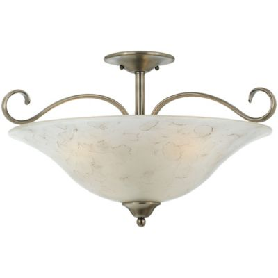 Quoizel Duchess Extra Large Semi-Flush Mount in Antique Nickel