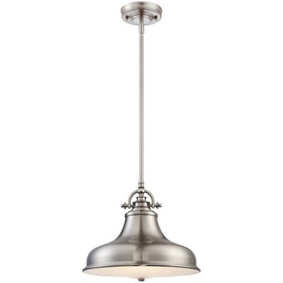 Brushed Nickel Ceiling-Mount Pendant