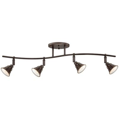 Eastvale 4-Light Ceiling-Mount Fixed Track Light in Palladian Bronze