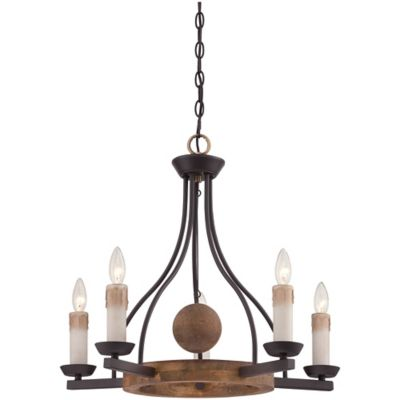 Hampshire 5-Light Ceiling-Mount Chandelier in Western Bronze