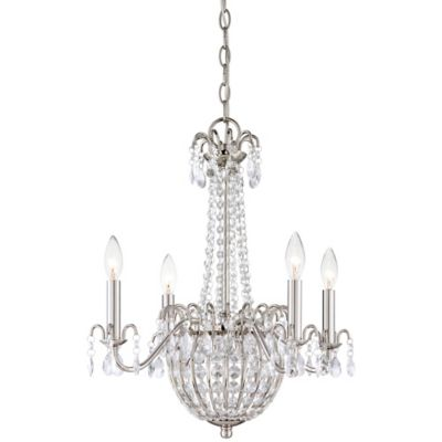 Jolene 4-Light Ceiling-Mount Chandelier in Imperial Silver