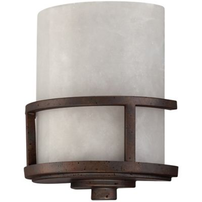 Quoizel Kyle Wall-Mount Pocket Sconce in Iron Gate
