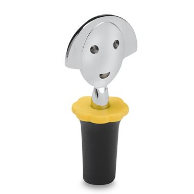 Anna G. Black Bottle Stopper by Alessi