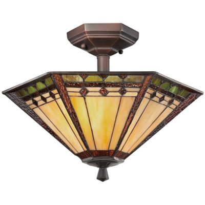Quoizel Arden 2-Light Semi-Flush Mount Ceiling Fixture in Russet