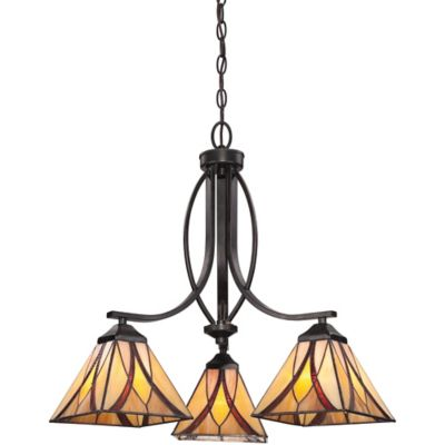 Quoizel Asheville 3-Light Chandelier in Valiant Bronze
