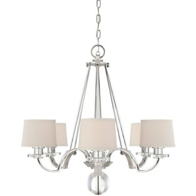 Quoizel Uptown Sutton Place 6-Light Wall-Mount Chandelier in Silver