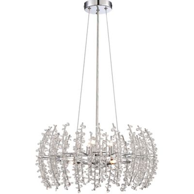 Quoizel Valla 6-Light Pendant in Polished Chrome