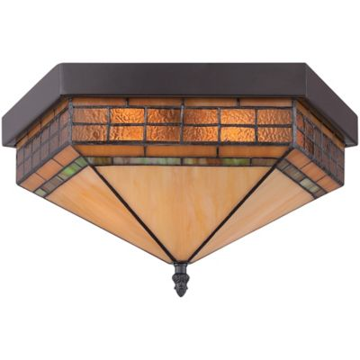 Quoizel Samara 2-Light Ceiling-Mount Flush Mount