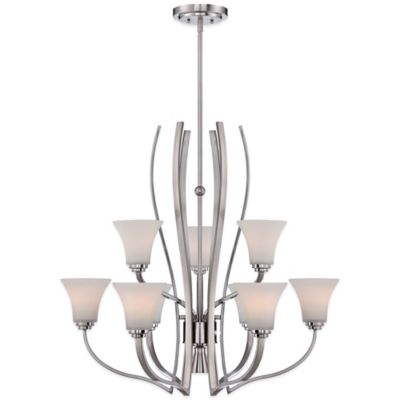 Quoizel Kemper 6-Light Ceiling-Mount Chandelier in Brushed Nickel