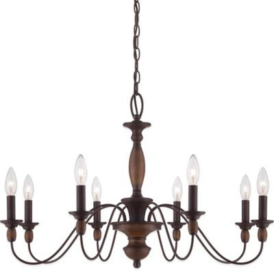 Quoizel Holbrook 5-Light Ceiling-Mount Chandelier in Tuscan Brown