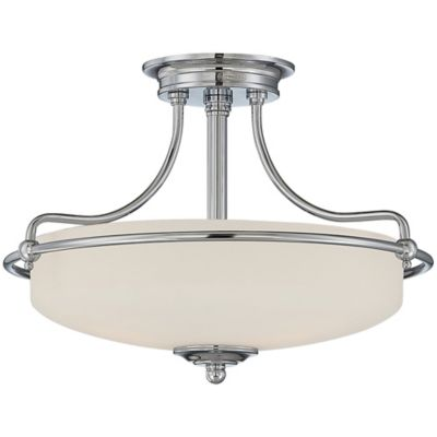 Quoizel Griffin Extra-Large Semi-Flush Mount Ceiling Light in Polished Chrome
