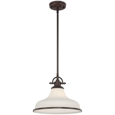 Quoizel Grant Ceiling-Mount Pendant Light in Brushed Nickel
