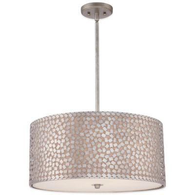 Quoizel Confetti 3-Light Pendant Light Fixture in Old Silver