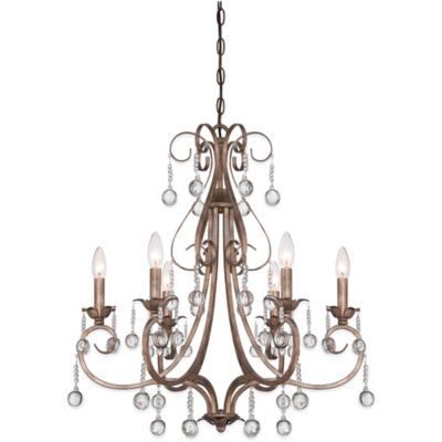 Quoizel Capulin 6-Light Ceiling-Mount Chandelier in Empire Gold