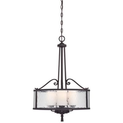 Quoizel Adonis Ceiling-Mount 3-Light Pendant in Dark Cherry