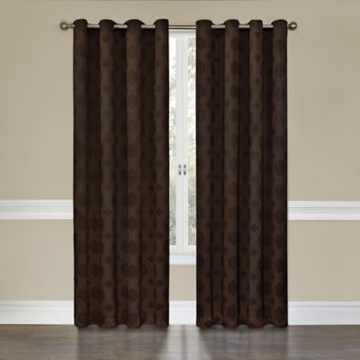 Insola Tamari Grommet Top 63-Inch Blackout Window Curtain Panel in Espresso