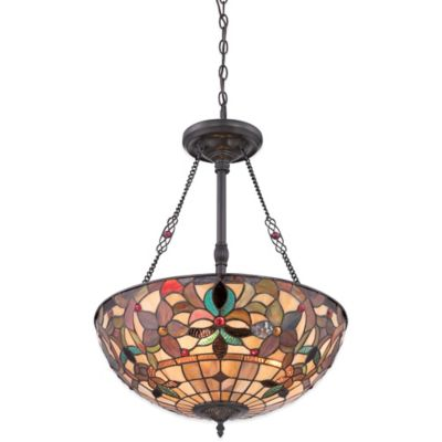 Quoizel Kami Ceiling-Mount 3-Light Pendant in Bronze