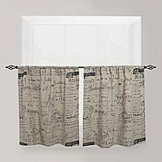 Park B Smith Script Caf Window Curtain Tier Pair Bed Bath Beyond