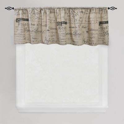Park B. Smith Script Café Window Valance in Linen