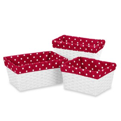 Red Baskets with Liners