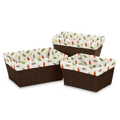 Sweet Jojo Designs Forest Friends Basket Liners in Multicolor (Set of 3)